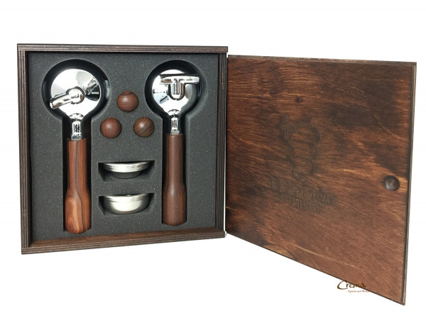 Original Bezzera Holz Siebträger-Set E-61 Serie