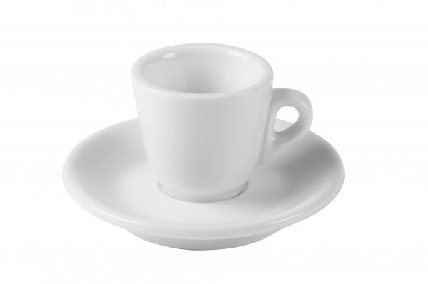 Espressotassen weiss - 6er Set mit Unterteller