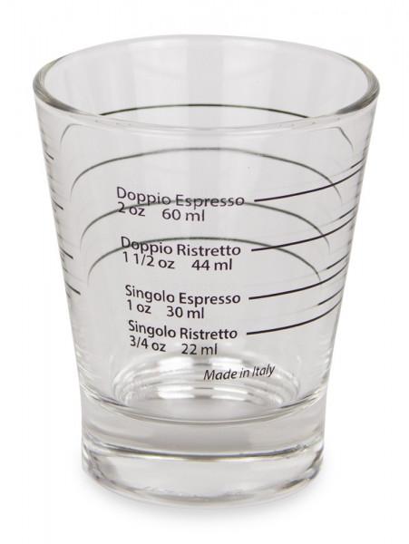 Espresso Shotglas mit Markierung
