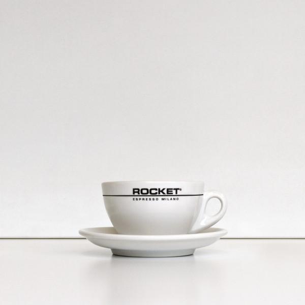 Rocket Cappuccinotassen weiss - 6er Set mit Untertasse