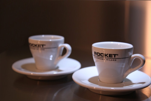 Rocket Espressotassen weiss - 6er Set mit Untertasse