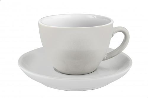 JoeFrex Milchkaffeetassen weiss - 6er Set mit Unterteller