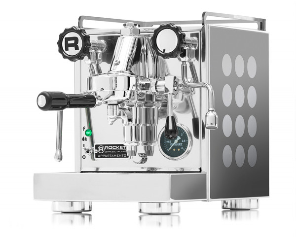 Rocket Appartamento Aluminium gebürstet Espressomaschine