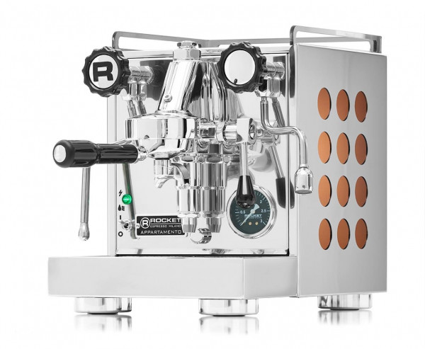 Rocket Espresso Appartamento Kupfer Bundle mit Eureka Mignon Silenzio Chrom